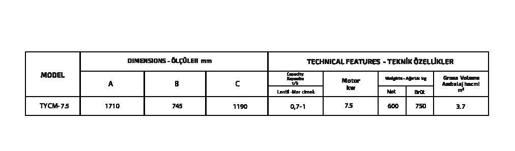 HORIZONTAL CLAMPING MACHINE özellikleri